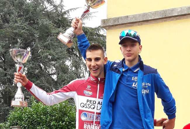 Myles Porcelli Pedale Ossolano Idroweld con il vincitore MIlo Marcolli