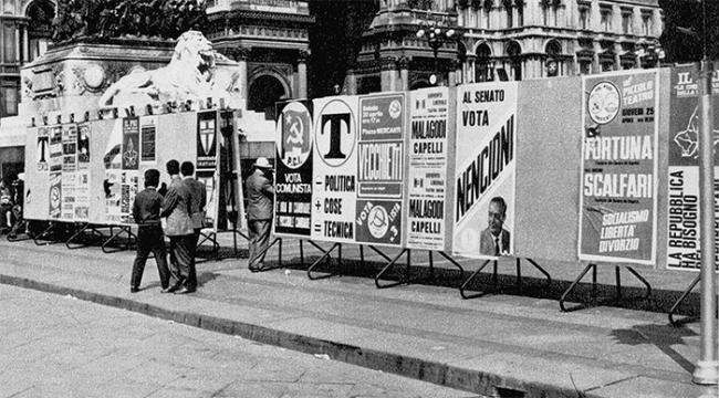 elezioni pannelli manifesti vecchi